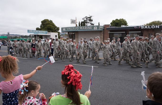 Travis Airmen Celebrate Independence Day with Community